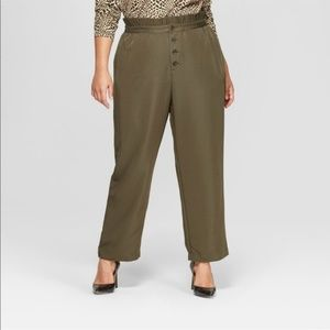 NWOT Who What Wear Olive Ankle Pants Size 4X